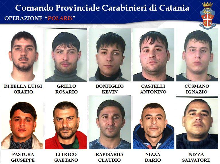 Arrestati operazione Polaris a Catania