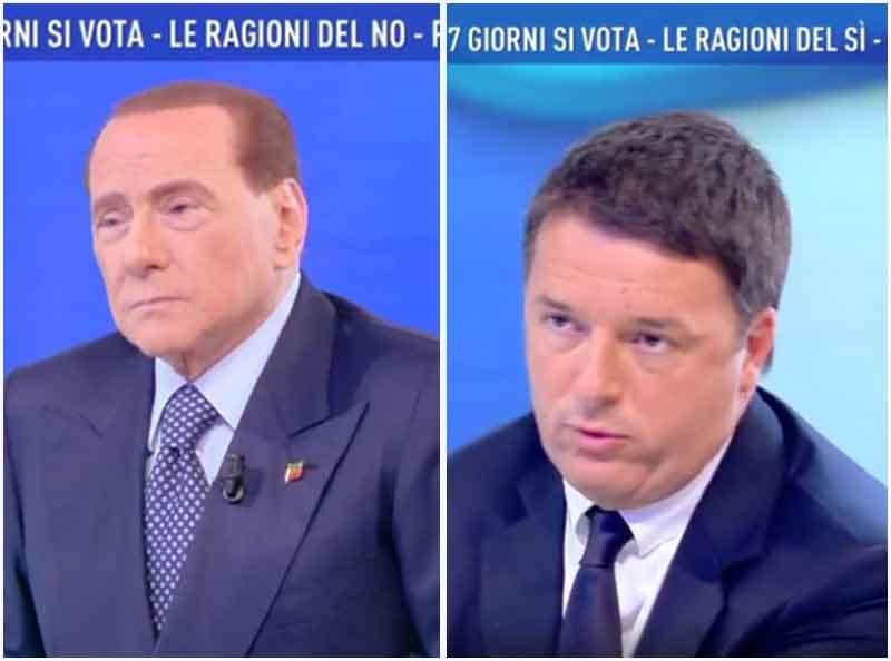 Berlusconi e Renzi a Domenica Live