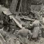 I resti dell'aereo a Superga