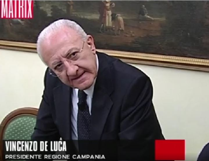 Vincenzo De Luca a Matrix