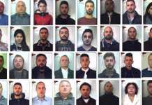 alcuni degli arrestati Laureana di Borrello