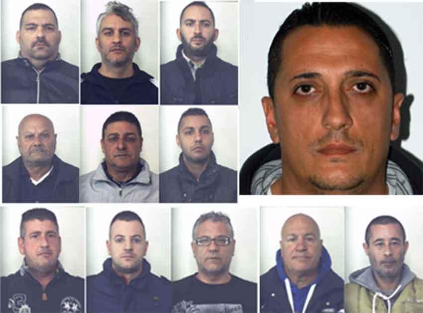 Alcuni degli arrestati nell'operazione Doomsday 2