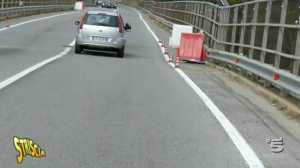 L'avallamento sul viadotto