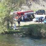 Investigatori al lavoro dove è stato rinvenuto il cadavere di Maurizio Ritacco