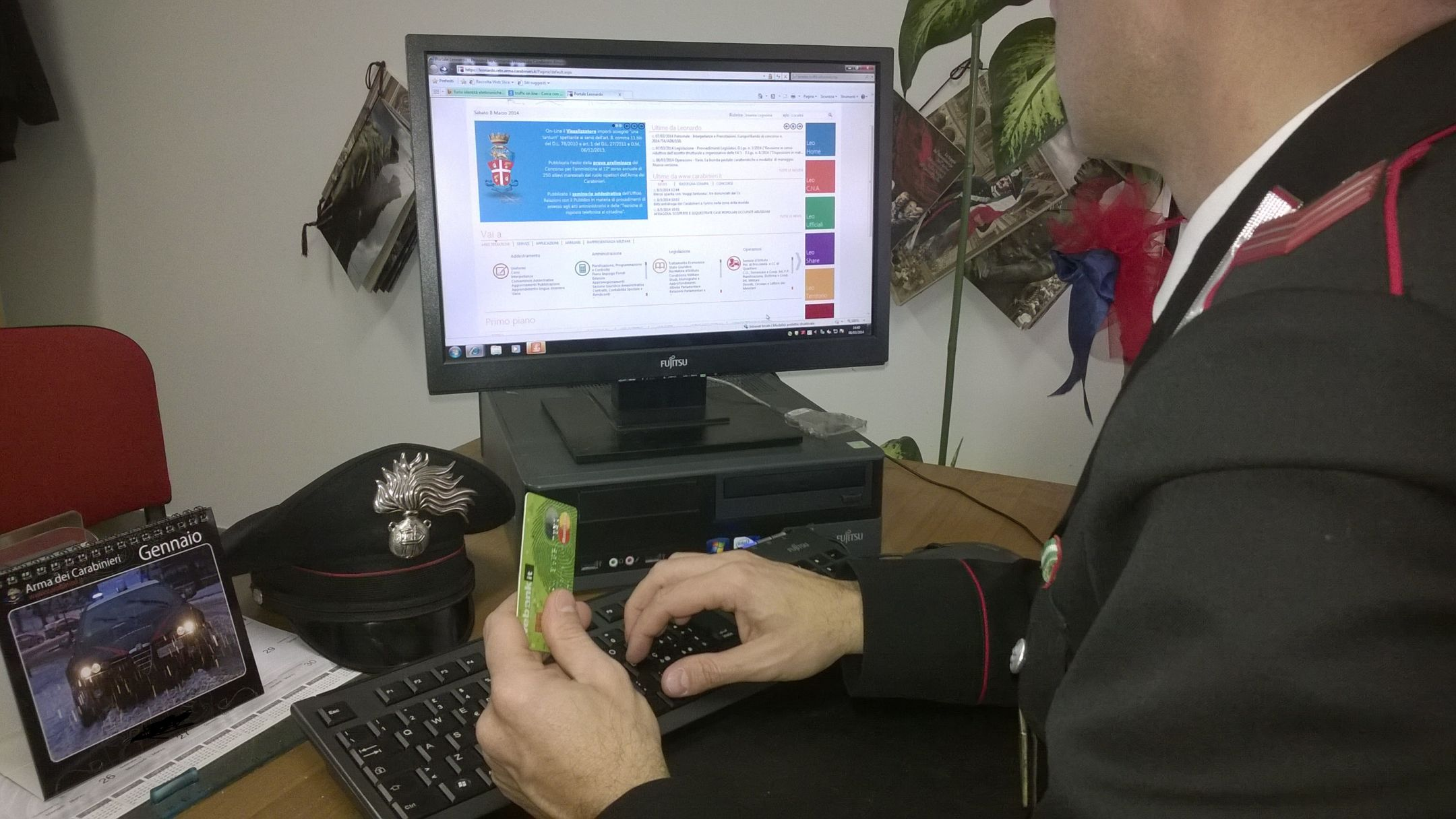 Carabinieri impegnati a scoprire truffe online
