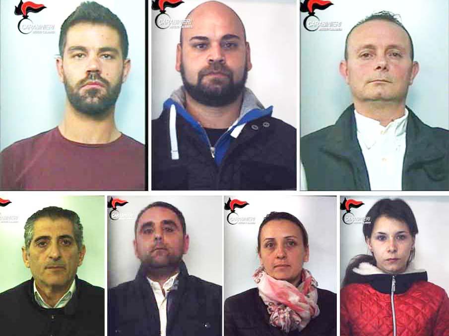 Da sinistra in alto: Alberto Chindamo, Marco Ferrentino, Vincenzo Lamari. Da sinistra in basso: Vincenzo Lainà, Antonino Digiglio, Tiziana Pettè e Alla Bielova