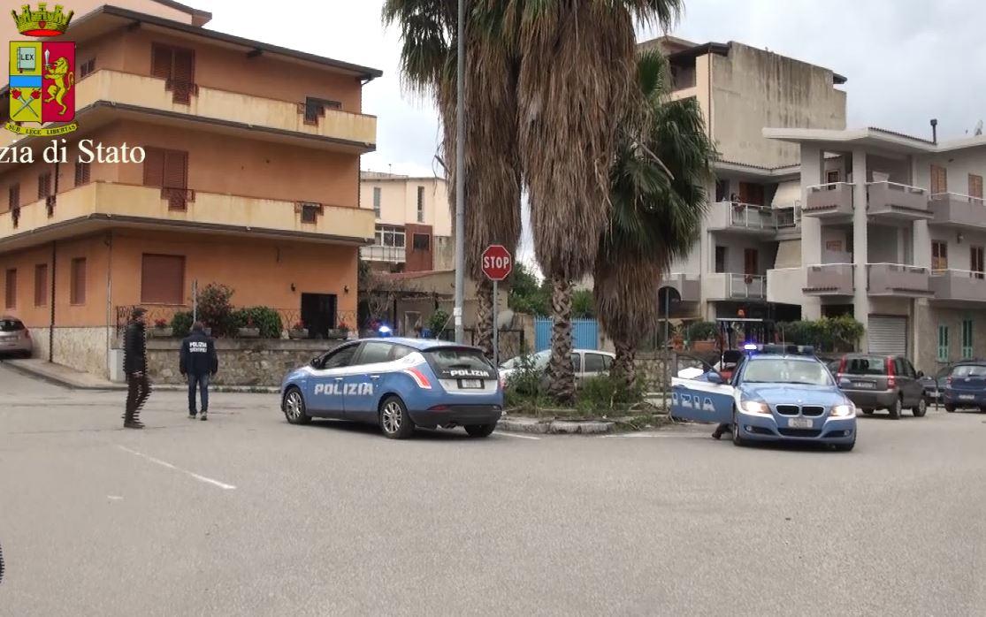 controlli della Polizia nei quartieri di Reggio Calabria