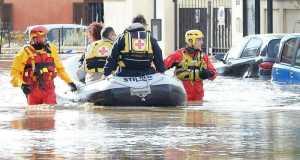 evacuazione di Tetti Piani, frazione di Moncalieri