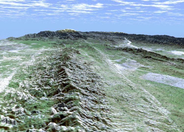La faglia di Sant'Andrea vista dalla Carrizo Plain nella California centrale (Nasa)