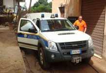 Un mezzo della Protezione civile Calabria