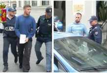 I presunti scafisti mentre vengono arrestati alla Polizia di Reggio Calabria