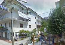 La stazione dei carabinieri di Amantea