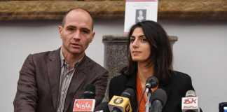 La sindaca di Roma Virginia Raggi e il vicesindaco Daniele Frongia