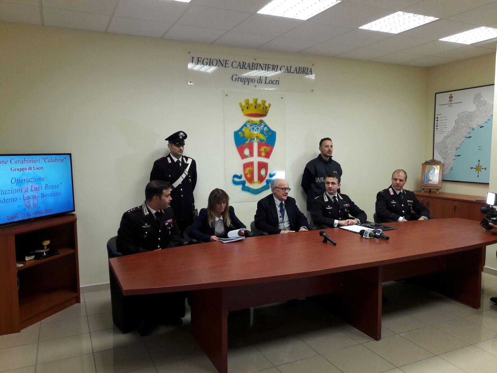Un momento della conferenza stampa a Locri