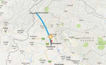 Il luogo dell'incidente aereo in Pakistan