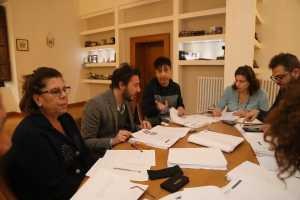 La commissione giudicatrice al lavoro