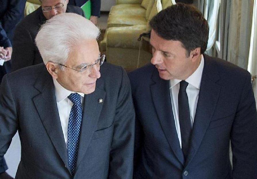 Sergio Mattarella e Matteo Renzi