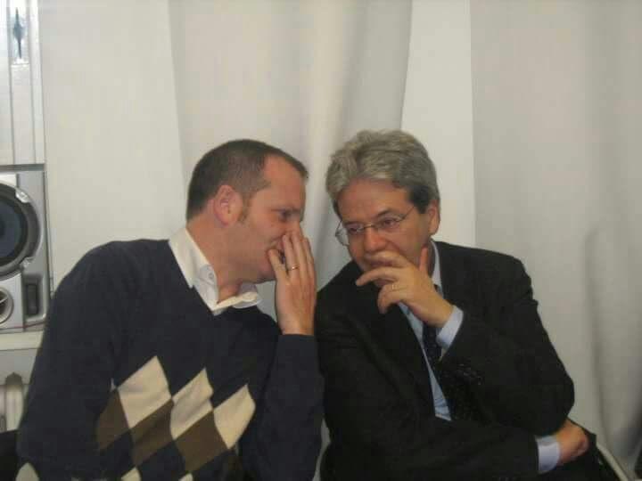 Mimmo Bevacqua e Paolo Gentiloni