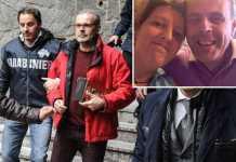 L'arresto di Leonardo Cazzaniga. Nel riquadro con Laura Taroni