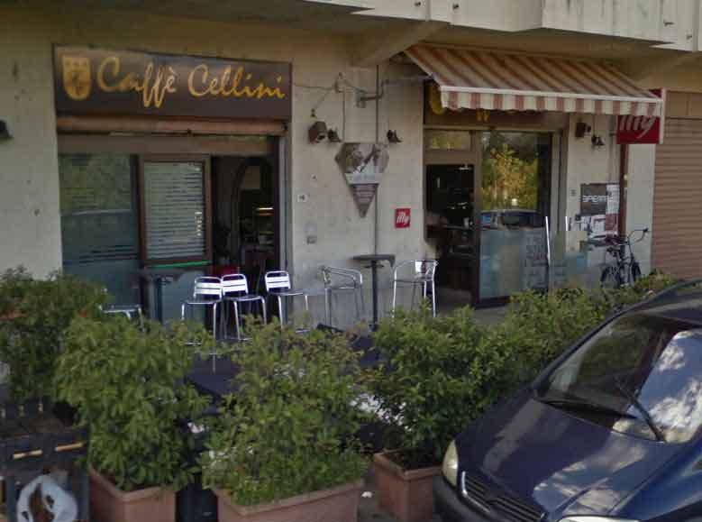 Il Caffè Cellini, dov'è avvenuta la sparatoria