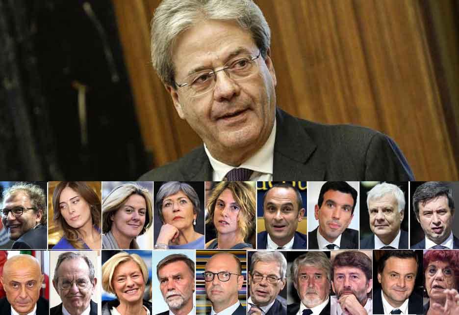Il nuovo governo Gentiloni