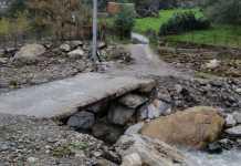 Frazione Cuchio di Platí isolata a causa del cedimento di un piccolo ponte.