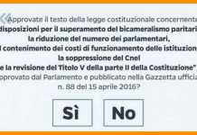 vIl quesito del referendum costituzionale del 4 dicembre 2016