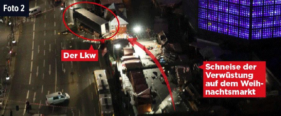 Il tir travolge le bancarelle del mercato di Natale sul marciapiede centrale all'arteria