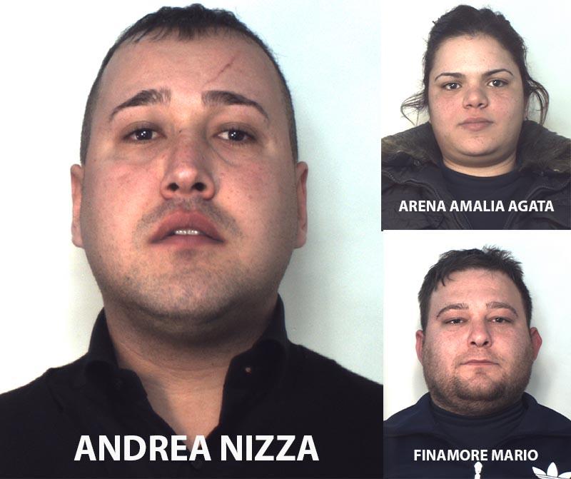 Andrea Nizza, Amalia Agata Arena, Mario Finamore
