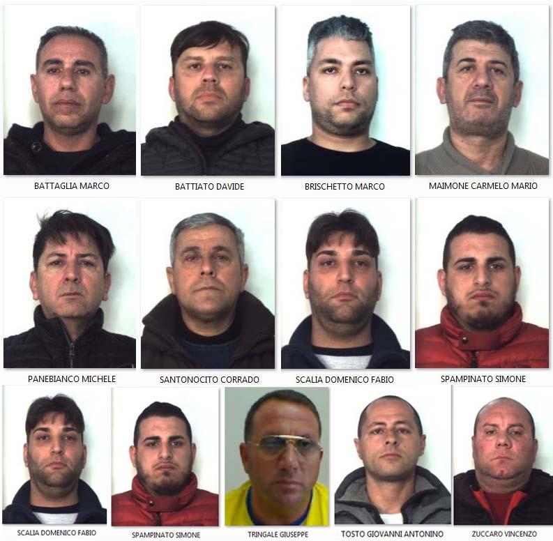 Catania, 13 arresti nel gruppo Picanello dei Santapaola ...