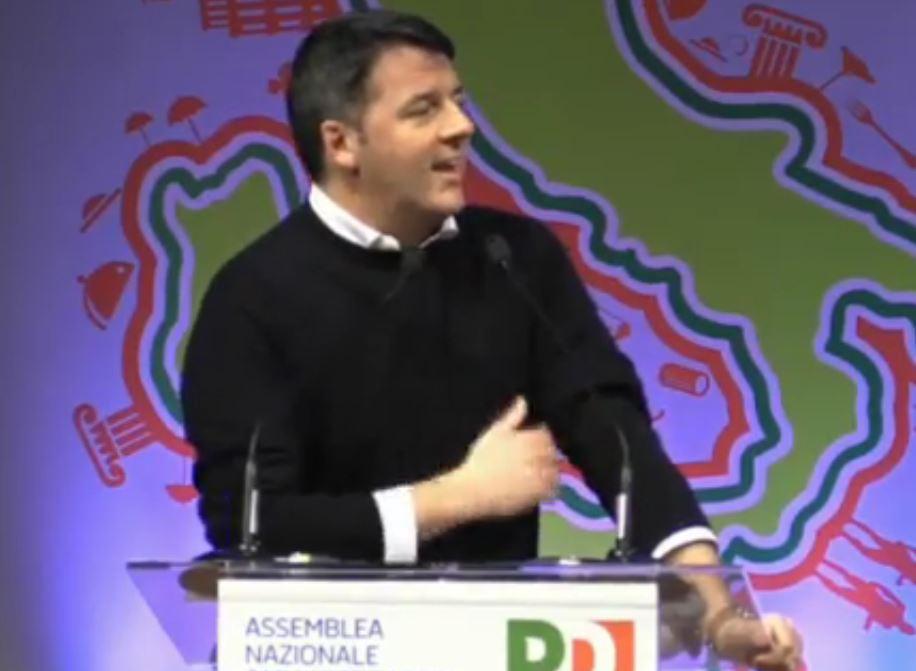 Matteo Renzi durante il meeting a Rimini
