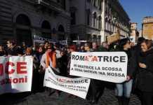 Sit-in dei terremotati del Centro-Italia a Roma