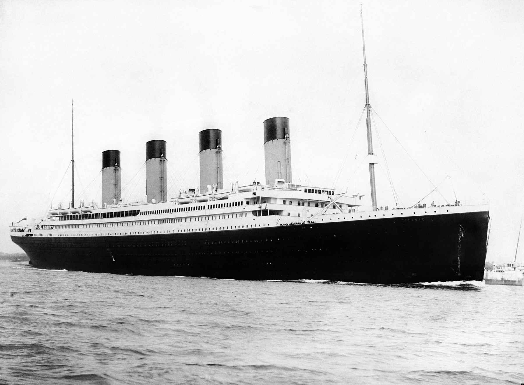 Il Titanic in partenza da Southampton il 10 aprile 1912