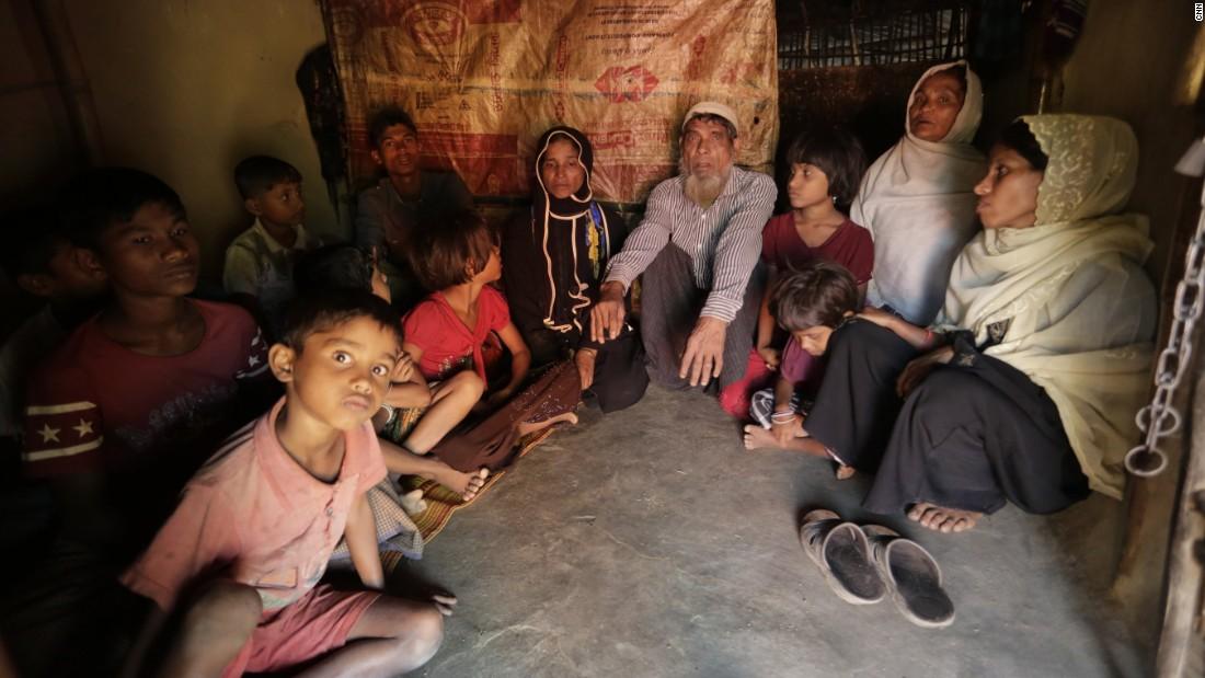 Una famiglia di Rohingya