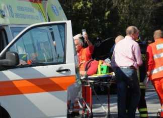 Ambulanza su luogo incidente