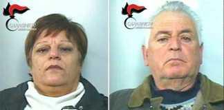 Vittoria Scarfone e Vincenzo Timpani arrestatiil 12 gennaio 2017
