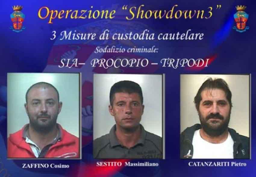 arrestati nell'operazione Showdown 3
