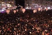 La calca piazza Fera durante il concertone con Soler