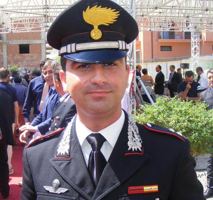 Il comandante della Compagnia di Tropea Dario Solito