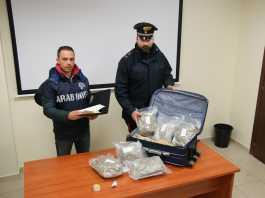 I carabinieri di Locri con la marijuana sequestrata