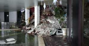 L'hotel Rigamonti sventrato dalla slavina