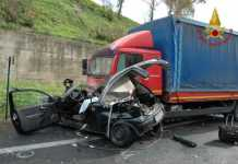 incidente auto camion