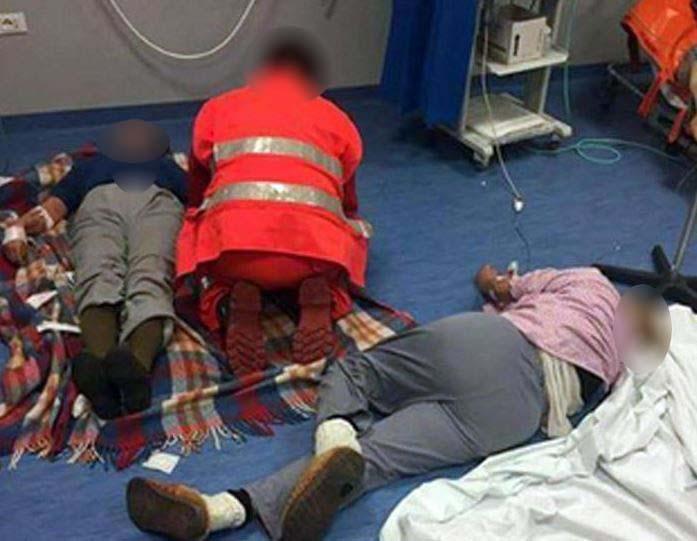 Pazienti all' ospedale di Nola