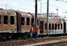 Scheletro di uomo trovato a Bari in un treno bruciato a Cosenza