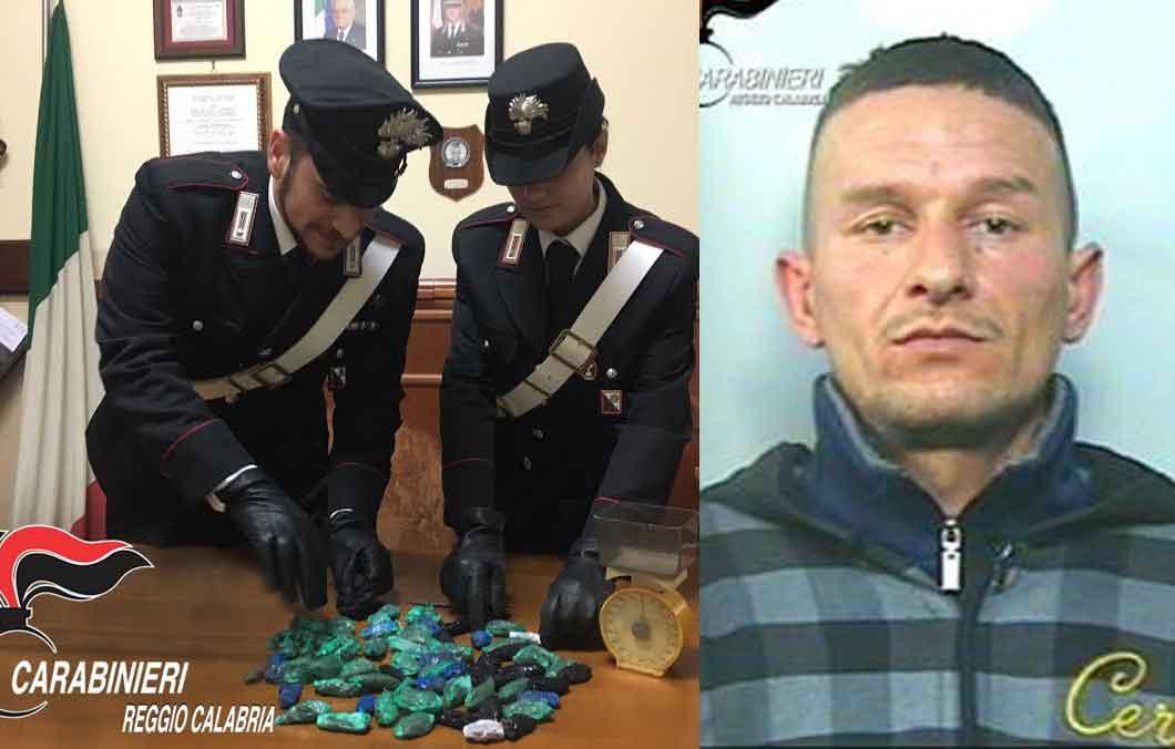 A destra Roberto Amato arrestato a Rosarno