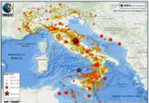 La mappa sismica INGV 2016 53mila terremoti
