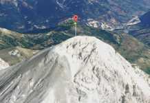 Il Mont Chaberton sulle Alpi dove è avvenuta la tragedia