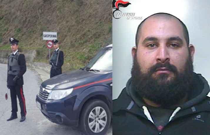 Salvo Gregorio Mirarchi arrestato a Gasperina