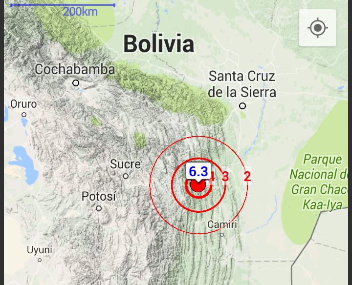 Terremoto Bolivia
