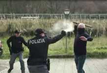 Agenti di Cosenza testano lo spray al peperoncino